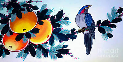 Painting - Fruit And The Bird by Ian Gledhill