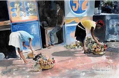 A Sunny Morning Painting - Fruit And Vegetables by Monte Toon