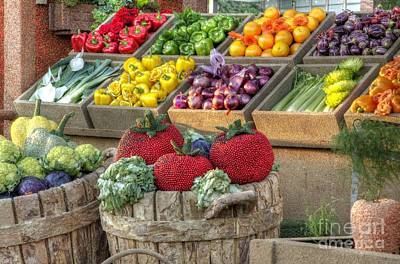 Photograph - Fruit And Veggie Display by Mathias