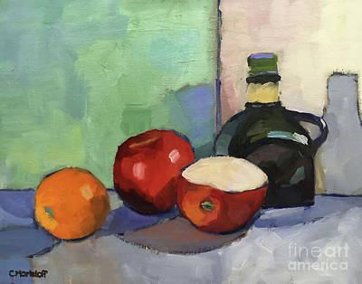 Fruit And Vinegar Art Print by Catherine Martzloff