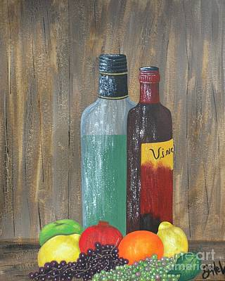 Painting - Fruit And Vino by JoNeL Art