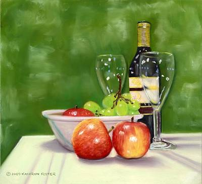 Fruit And Wine Original by Kathryn Foster