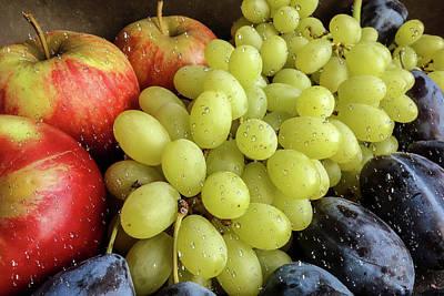 Still Life Of Fruit Assortment Art Print by Ivanoel Art