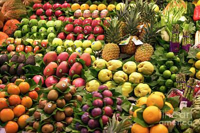 Photograph - Fruit At La Boqueria by John Rizzuto