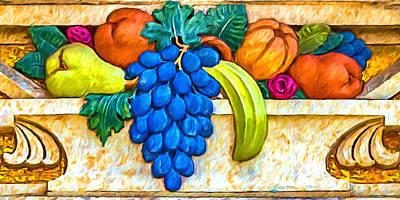 Digital Art - Fruit Basket Frieze by John Haldane