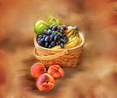 Fruit Basket Original by Mary Timman