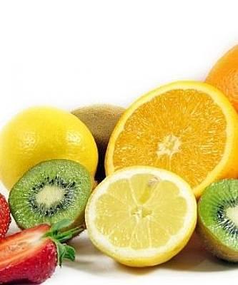 Allsorts Digital Art - Fruit Berries Allsorts Strawberry Oranges Kiwi Lemon 5424 300x360 by Anne Pool