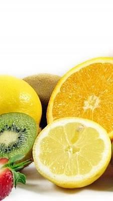 Allsorts Digital Art - Fruit Berries Allsorts Strawberry Oranges Kiwi Lemon 5424 300x533 by Anne Pool