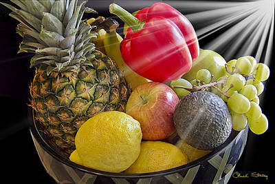 Fruit Bowl Art Print by Chuck Staley