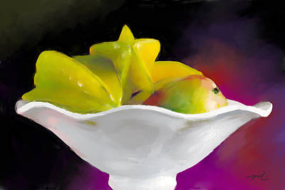 Mango Digital Art - Fruit Bowl by Michelle Wiarda