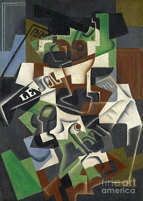Painting - Fruit Bowl, Pipe And Journal, 1917  by Juan Gris