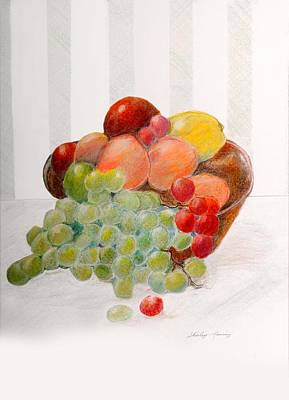 Drawing - Fruit Bowl by Shirley Lawing