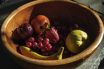 Photograph - Fruit Bowl Still Life by Debra Fedchin