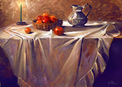 Painting - Fruit By Candle Light by Nancy Griswold