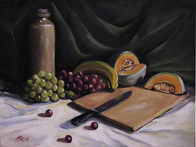 Painting - Fruit By The Light by Nancy Griswold