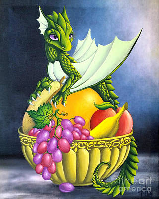 Fruit Dragon Art Print