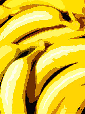 Fruit Painting - Fruit Expression Four - Bananas by Linda Mears