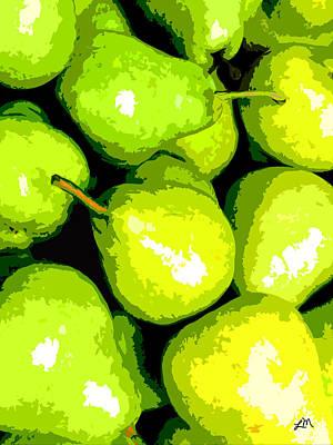 Fruit Expression Three - Pears Art Print