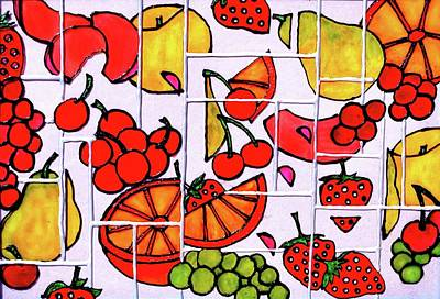 Painting - Fruit Fractals by Farah Faizal