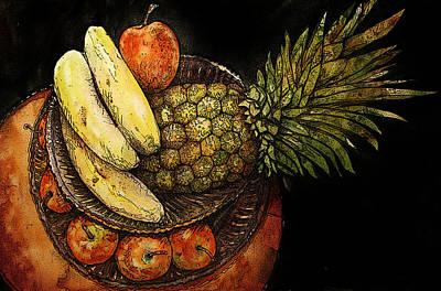 Shirley Digital Art - Fruit In The Round by Shirley Sykes Bracken