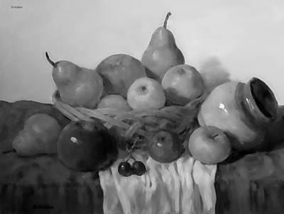 Painting - Fruit In Wicker Basket by Robert Holden