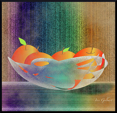 Digital Art - Fruit by Iris Gelbart