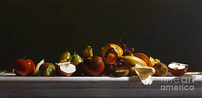 Pears Painting - Fruit by Larry Preston