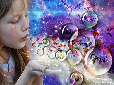 Digital Art - Fruit Of The Spirit by Dolores Develde