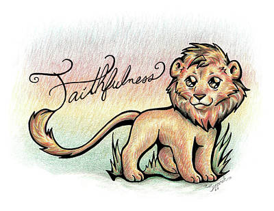 Drawing - Fruit Of The Spirit Faithfulness by Sipporah Art and Illustration