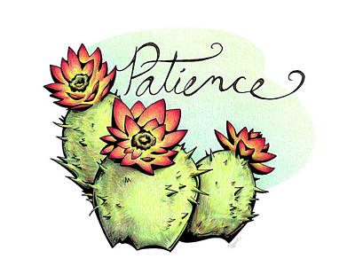 Drawing - Fruit Of The Spirit Series 2 Patience by Sipporah Art and Illustration