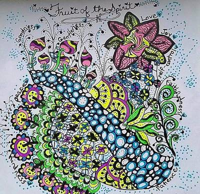 Drawing - Fruit Of The Spirit by Carole Brecht