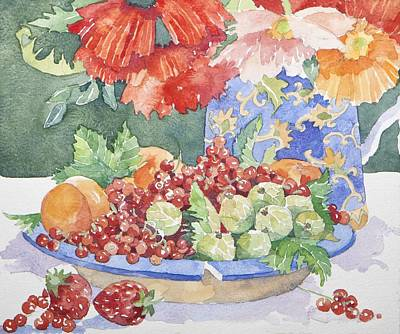 Water Jug Painting - Fruit On A Plate by Jennifer Abbot