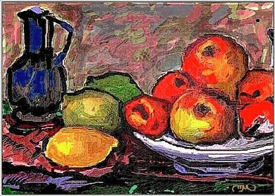 Fruit Art Print by Pemaro