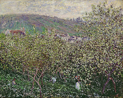 Worker Painting - Fruit Pickers by Claude Monet