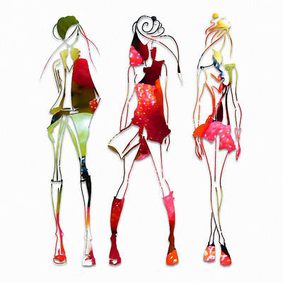 Model Mixed Media - Fruit Salad Fashion by Marvin Blaine