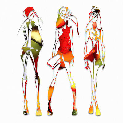 Mixed Media - Fruit Salad Runway Models by Marvin Blaine