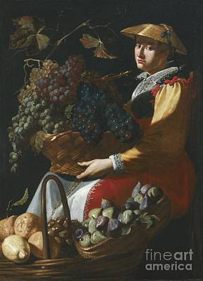 Including Painting - Fruit Seller by Celestial Images