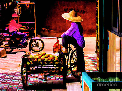 Photograph - Fruit Seller In China by Rick Bragan