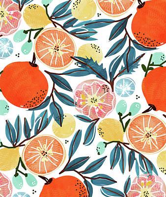 Digital Art - Fruit Shower by Uma Gokhale