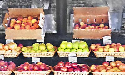 Fruit Stand - Carmel California Art Print by Steve Ohlsen