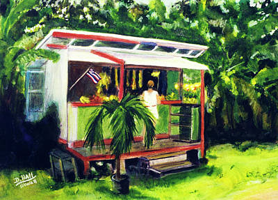 Fruit Stand North Shore Oahu Hawaii #163 Art Print by Donald k Hall