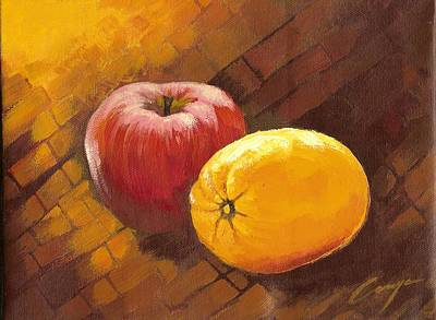 Painting - Fruit Still Life by Victor Cuya