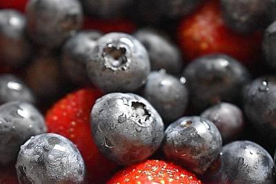 Blueberry Drawing - Fruit by Sydney Otis