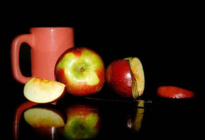 Glass Table Reflection Photograph - Fruit Tea by Diana Angstadt