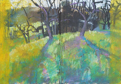 Painting - Fruit Tree Orchard,tree Landscape by Martin Stankewitz