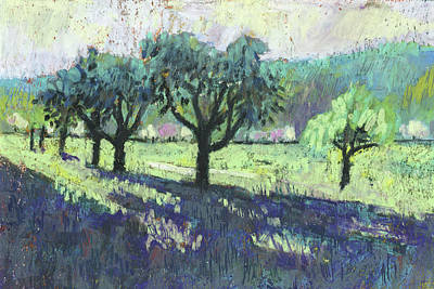 Fruit Trees, Spring Landscape Art Print by Martin Stankewitz