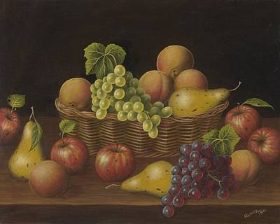 Wavra Wall Art - Painting - Fruit With Basket by Robert Wavra
