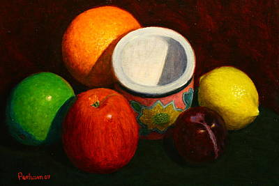 Painting - Fruit With Small Planter by Terry Perham