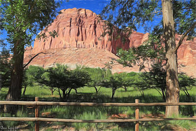 Photograph - Fruita Orchards - Capital Reef by Donna Kennedy