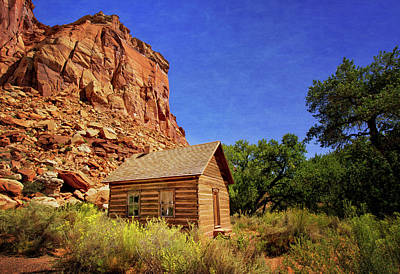 Photograph - Fruita Schoolhouse by Carolyn Derstine